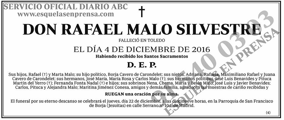 Rafael Malo Silvestre